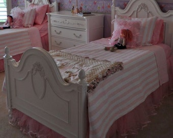 Custom Made Twin..Tutu..Ballerina..Tulle..Bedskirt...Dust Ruffle...Bed Skirt