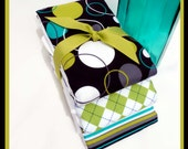Classy Etsy Burp Cloths, Handsome Baby Boy Gift Set, Premium Diaper Burp Cloths