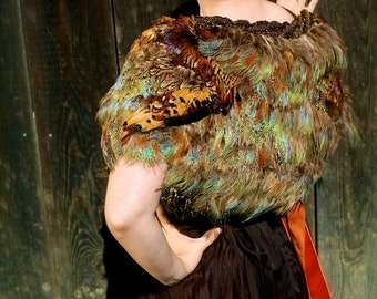 LG- Made To Order- Dreamy Feather Capelet. Original Pattern and Design by The House of Kat Swank. Limited Edition.