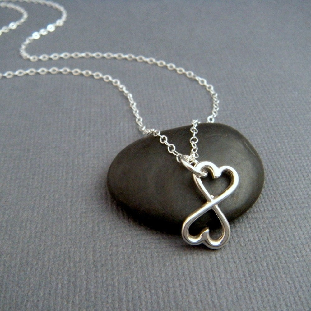 silver heart necklace heart infinity necklace small heart. Black Bedroom Furniture Sets. Home Design Ideas