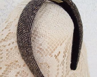 Herringbone Tweed Hairband LAST ONE