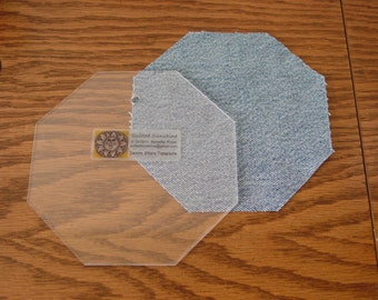Laser Cut Acrylic Template for Denim Stars Quilt Pattern