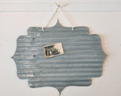Salvaged Tin Frame Magnet Board