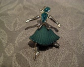 Vintage Trifari Beau Belles or Heaping High Dancer Pin Brooch