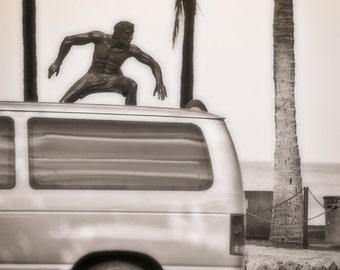 Surfing Photograph. Surfin' USA. Honolulu, Hawaii. 8x12