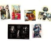 Primitive Animal Sticker Set (6) - Jesse Reno Art