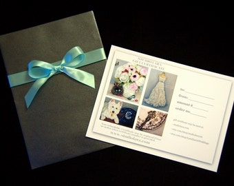 GIFT CERTIFICATE 550 (USD) to Studio Lara or Lara Harris Weddings
