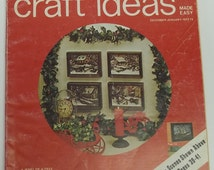 Vintage Decorating and Craft Ideas Made Easy magazine, December-January 1972-1973,crafting,crafting magazine,decorating,