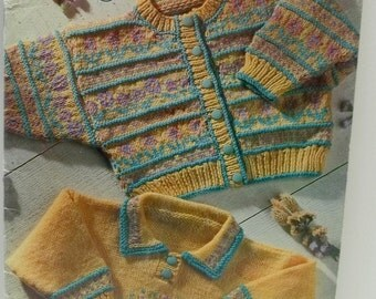vintage knitting patterns by Patons Sweets for the sweet no 67,sweaters for babies,young girls and boys,