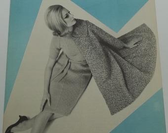 Vintage beehive knitting pattern,women coat,dress knitting pattern size 12/18 by Patons Beehive no 2063,women pattern,knitting pattern,coat