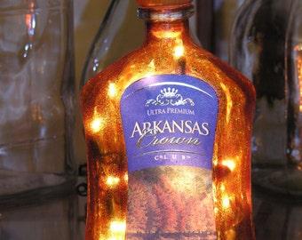 Arkansas Crown Club Lighted Bottle