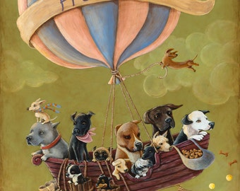 Freedom -- Signed 11x14 Giclee Print to benefit shelter animals