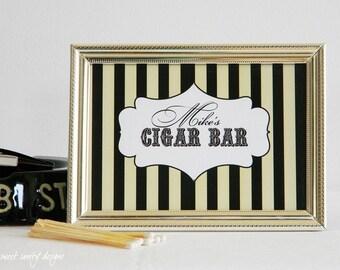 Reception Print - Cigar Bar Sign