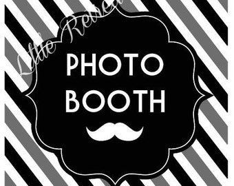 DIY. PRINTABLE PDF. Photo Booth Sign. Photo Booth Prop. Photobooth Prop. Wedding Reception. Chalk