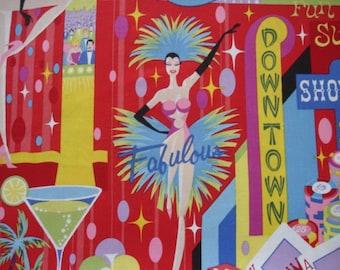 "LAS VEGAS  FABRIC Las Vegas Fabric Alexander Henry ""the strip"" 2007 - 1 Yard - #L2"