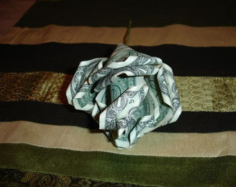 Feng Shui Wealth Attracting Money Origami Rose