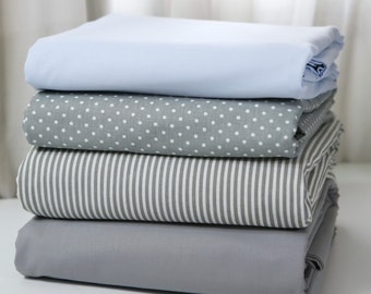 Custom Duvet Cover  - 32 colors essential collection - Grey & Chambray - choose your fabric / piping combo