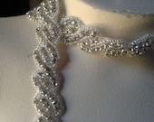 "REMNANT 34"" Rhinestone Trim for Bridal Sashes, Headbands, Jewelry"