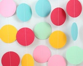 Rainbow Dots Paper Garland - Party Garland - Birthdays - Celebrations