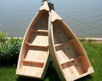 4 foot Nautical wooden outdoor canoe landscape all cedar boat garden box planter lawn or yard ornament decoration or wedding raw bar
