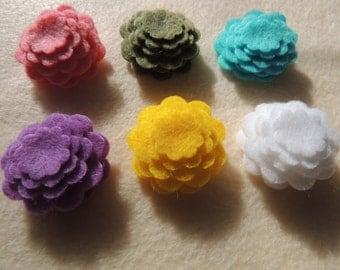 Easter Felt Pack 48- Die cut Felt Tiny Flowers, Easter Colors