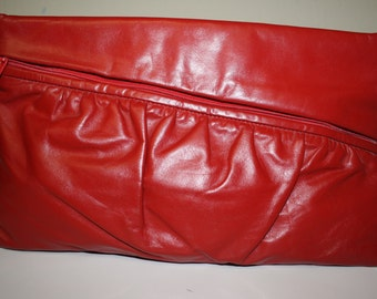 Diagonal Red Purse / Clutch from Stylefinders