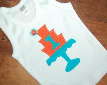 Custom Vintage Cake Stand birthday shirt / READY TO SHIP / 1st Birthday / girls first birthday shirt