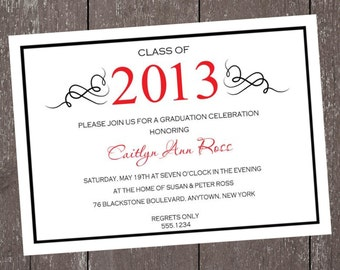 Graduation Party, Announcement Invitation - Any Color