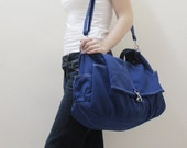 Back To School SALE - 20% OFF Classic in Royal Blue / diaper bag / School bag / Shoulder Bag / Hobo / Purse / tote / women / hers