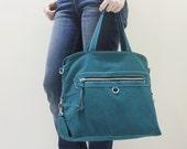 New Year SALE - 20% OFF Wisey in Dark Teal / Messenger / Handheld / Document bag / Laptop / working Bag / Purse / Handbag / Women / For her