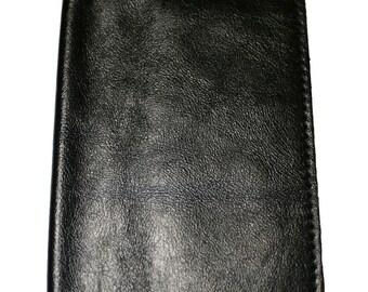 Black Leather Passport Cover For Men & Women - Accessories