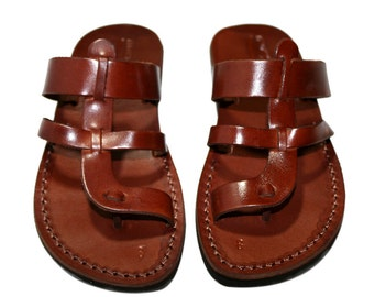 Brown Limbra Leather Sandals for Men & Women