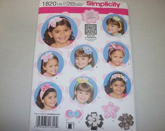 New Simplicity  Hair Accessories Pattern, 1820   (Free US Shipping)