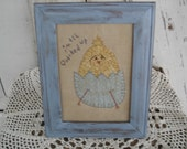 Lil' Chick Stitchery, Primitive, Rustic, Easter, Spring, Summer, Chick, Chicken, Ofg, Faap, Hafair, Dub