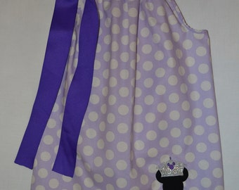 Girls Princess Minnie Pillowcase Dress Disney Vacation