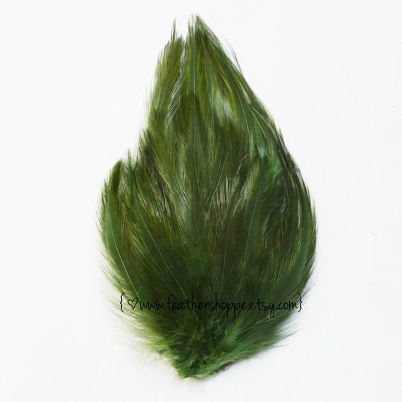 Moss Green Hackle Feather Pad