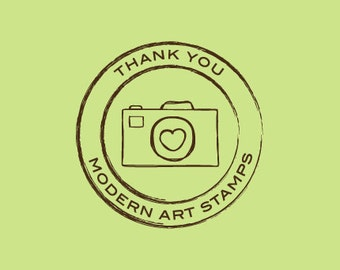 Custom Rubber Stamp - Custom Stamp - Personalized Stamp - Photography Stamp - Photographer Stamp - Camera Stamp - Photo by Stamp - C497