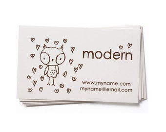 Business Card Stamp   Custom Rubber Stamp   Custom Stamp   Personalized Stamp   Owl Stamp   BC39