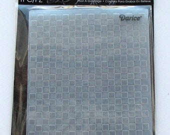 Checkered embossing folder - checkered folder - checked folder - A2 Embossing Folders - Darice folder - Darice embossing folder - cardmaking