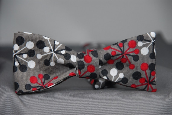 Atomic Grey  Bow Tie
