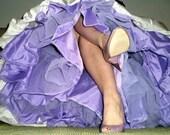 Purple Tulle Skirt --- Hand Dyed Crinoline - Extra Full --- Purple, Pink, Blue, Yellow, Green, Orange, Coral, Gold