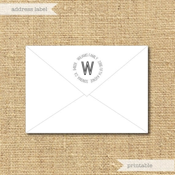 Printable Return Address Labels- Choose from 9 templates