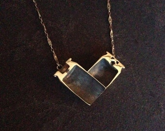 Heart Shaped Bullet Necklace