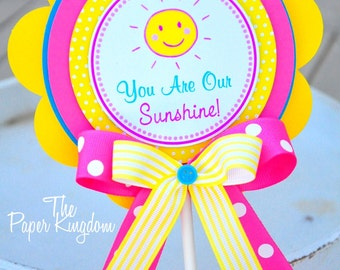 You Are My Sunshine Smash Cake Topper, You are My Sunshine Birthday, Cake Topper