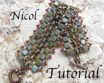 Tutorial Nicol SuperDuo and Tila Beadwork Bracelet PDF