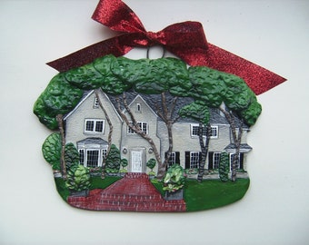 Custom listing for cfalmyr- 10 Custom House Ornament-  a cherished keepsake of your home