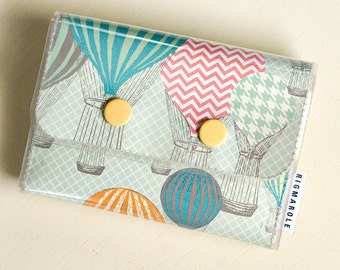 Women's Double Snap Wallet - Spring Hot Air Balloons