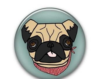 "Pug 1"" Button"