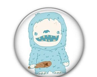 """MIgo the Abominable Snowman 1"""" Button"""