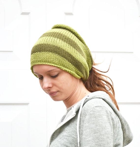 Knitting Pattern For Dreadlock Hat : Knitted Tube Ski Hat Neck Warmer Dreads Dread Wrap by slouchiehats